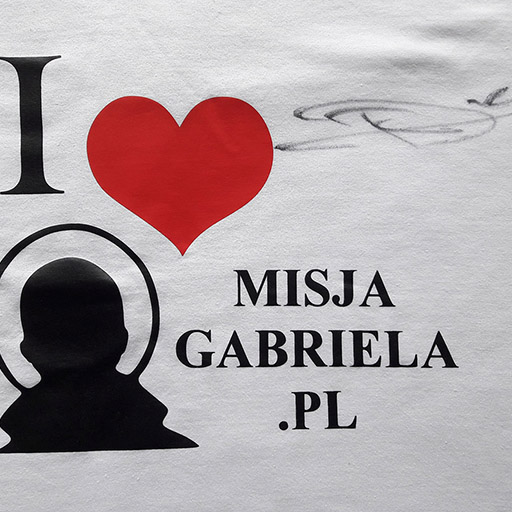 Koszulka Misji Gabriela z autografem Roberta Kubicy