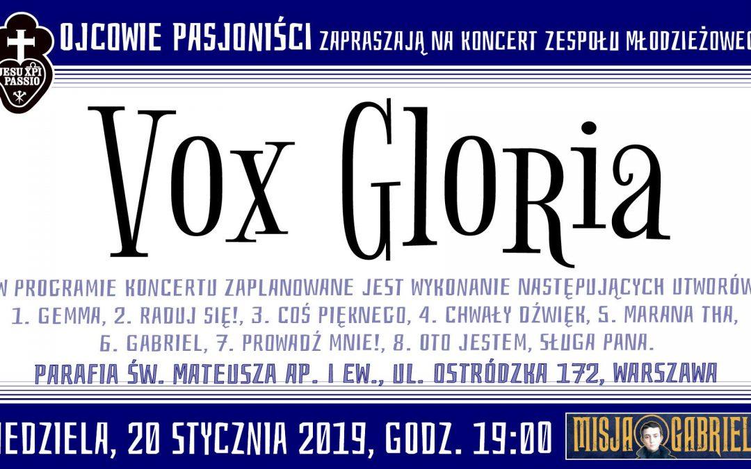 """Koncert zespołu młodzieżowego """"Vox Gloria"""""""
