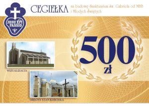 darowizna na budowę 500 zł