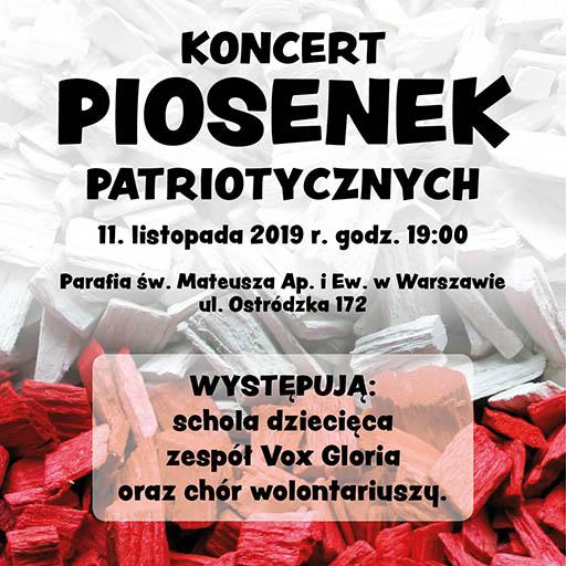 Koncert Pieśni Patriotycznych 11 XI 2019 r.