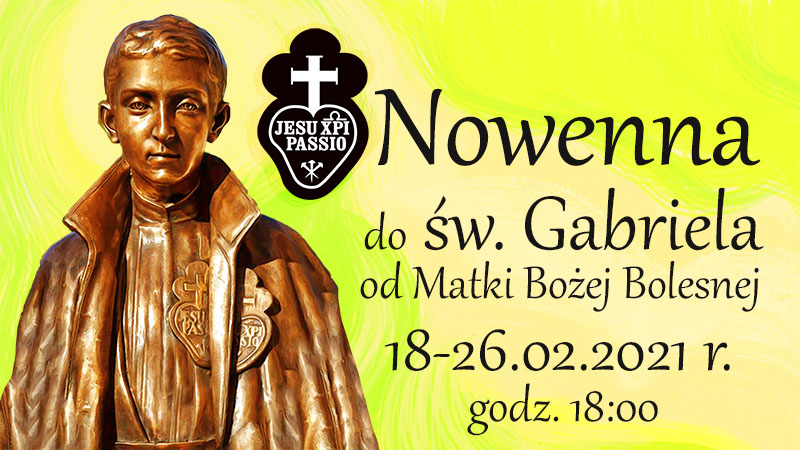 Nowenna do Świętego Gabriela od Matki Bożej Bolesnej